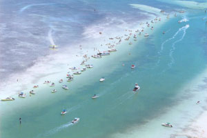 fun in the florida keys - park on a sandbar